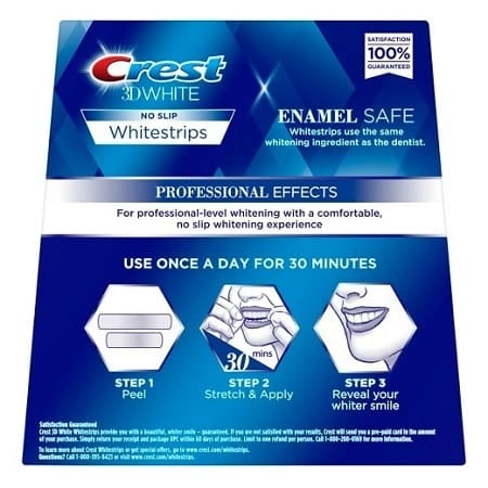 Crest 3D White Package How To Use Guide